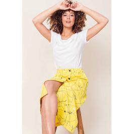 SkunkFunk žlutá midi sukně Ximena