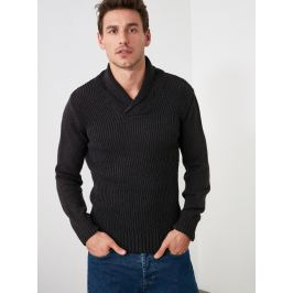 Černý pánský svetr Trendyol