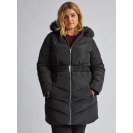 Černý prošívaný zimní kabát Dorothy Perkins Curve