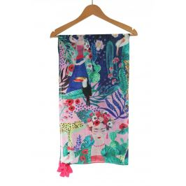 Disaster barevný šátek Frida Kahlo Tropical Scarf