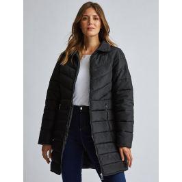 Černý prošívaný kabát Dorothy Perkins