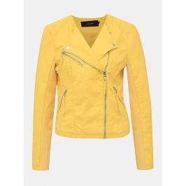 Žlutý koženkový křivák VERO MODA Ria
