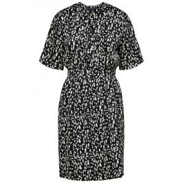 Krémovo-černé zavinovací šaty
