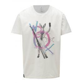 Růžovo-bílé pánské tričko s potiskem WOOX Cuniculus Mas