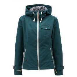 Tmavě zelená dámská nepromokavá lehká bunda WOOX Ventus Urban Ponderosa Pine