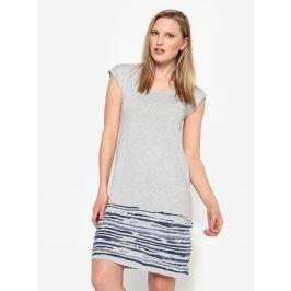 Šedé žíhané svetrové šaty bez rukávů Yest
