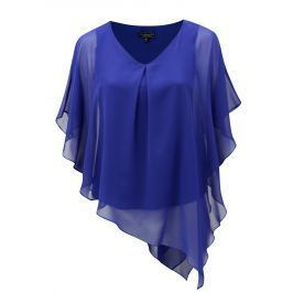 Modrá asymetrická halenka Billie & Blossom Curve