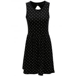 Černé šaty s průstřihem na zádech ONLY Olivia