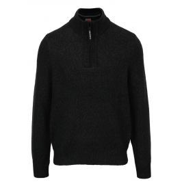 Tmavě šedý pánský žíhaný svetr s.Oliver