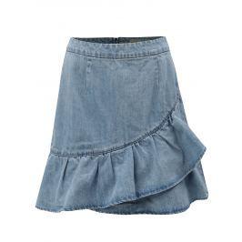Světle modrá džínová sukně s volánem VERO MODA Penny