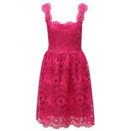 Růžové krajkové šaty Miss Grey Karina
