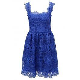Modré krajkové šaty Miss Grey Karina