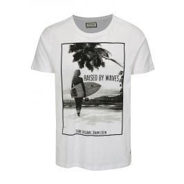 Bílé tričko s letním potiskem Shine Original