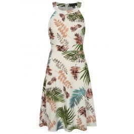Krémové vzorované šaty s páskem Mela London