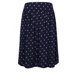 Tmavě modrá vzorovaná sukně Fever London Instow