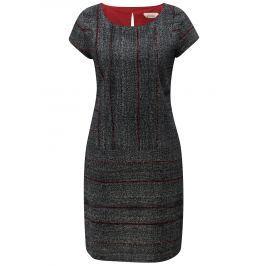Šedo-černé vzorované šaty Skunkfunk Elosta