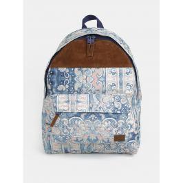 Krémovo-modrý vzorovaný batoh Roxy Sugar Baby