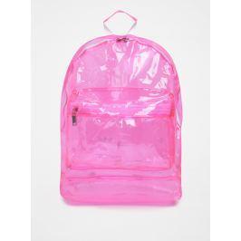 Růžový dámský transparentní batoh Mi-Pac Transparent 17 l