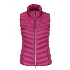 Růžová dámská prošívaná funkční péřová vesta Geox