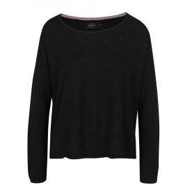 Černý volný svetr s plastickými detaily ONLY Liv
