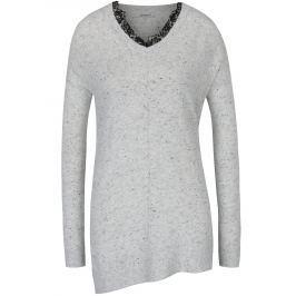 Světle šedý žíhaný svetr Haily´s Lacy
