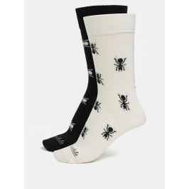 Krémovo-černé unisex ponožky s motivem mravenců Fusakle Mravenisko