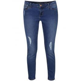 Modré skinny džíny s potrhaným efektem Noisy May Eve