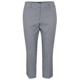 Bílo-modré zkrácené kostkované kalhoty Dorothy Perkins Curve