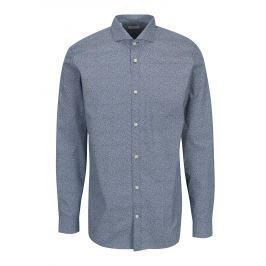 Modrá vzorovaná regular fit košile Selected Homme Two Sel