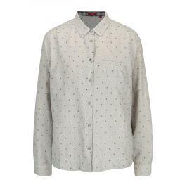 Šedá dámská puntíkovaná košile s.Oliver