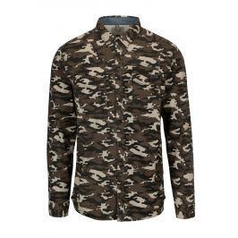 Khaki slim fit košile s maskáčovým vzorem Blend