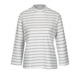 Černo-bílé pruhované tričko Jacqueline de Yong Gana