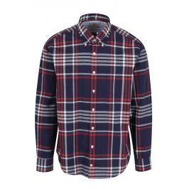 Modrá kostkovaná modern fit košile JP 1880