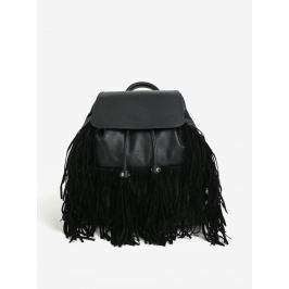 Černý batoh s třásněmi Miss Selfridge