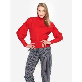 Červený svetr s balónovými rukávy Selected Femme Tanja