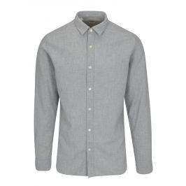 Světle šedá puntíkovaná slim fit košile Selected Homme One Tyler