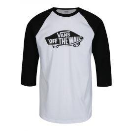 Černo-bílé pánské tričko s potiskem VANS New Raglan