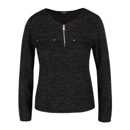 Černé žíhané tričko s dlouhým rukávem Haily´s Mabel