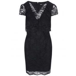 Černé šaty s krajkou Lipstick Boutique Lucinda