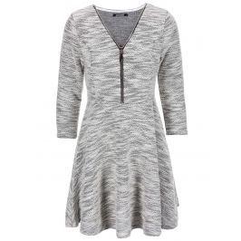 Šedé šaty na zip Haily´s Hazzy