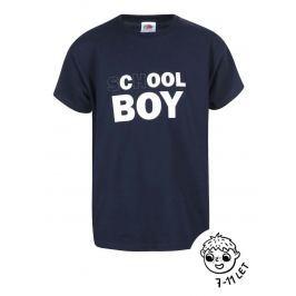 Tmavě modré klučičí tričko ZOOT Kids School Boy