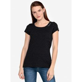 Černé puntíkované tričko Ragwear Mint Dots