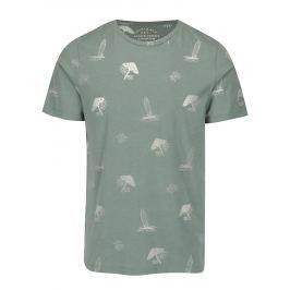 Zelené vzorované tričko Jack & Jones Premium Jorseal Tee