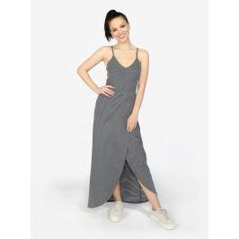 Bílo-šedé pruhované maxi šaty Superdry