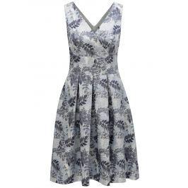Světle modré květované šaty s překládaným výstřihem Dorothy Perkins