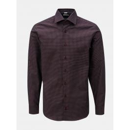 Vínová pánská vzorovaná formální košile VAVI