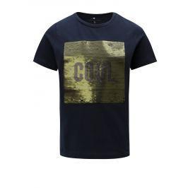 Modré dětské tričko s magickými flitry Name it Lipon
