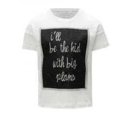 Bílé holčičí tričko s potiskem Name it Flela