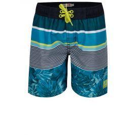 Tyrkysové klučičí pruhované plavky s potiskem BÓBOLI Dětské plavky
