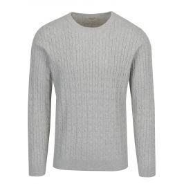 Světle šedý žíhaný svetr Selected Homme Clayton